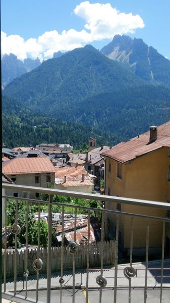 View from the terrace Location Apartment 85967 Auronzo di Cadore