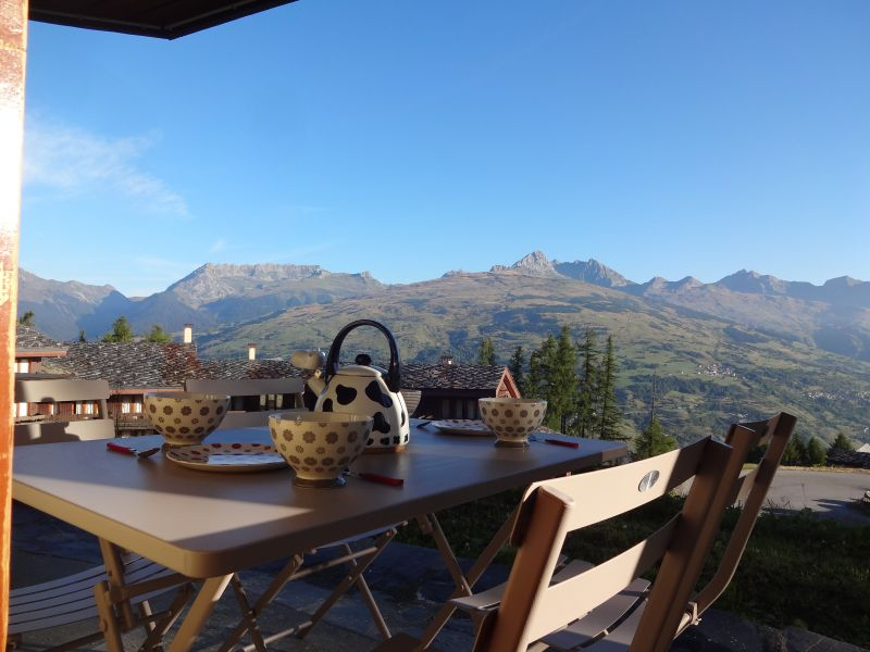 View from the terrace Location Apartment 108308 Montchavin les Coches