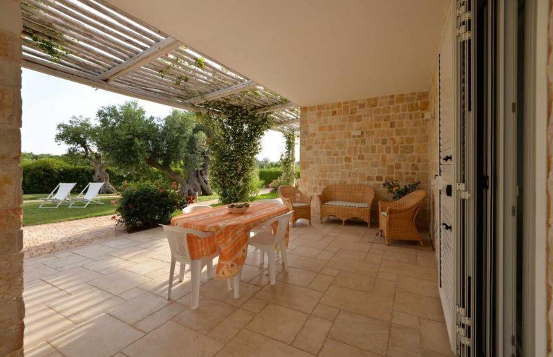 Covered balcony Location Villa 70846 Polignano a Mare