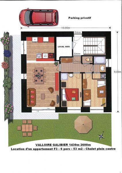Map of property Location Apartment 88191 Valloire
