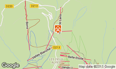 Map Les 2 Alpes Chalet 93861