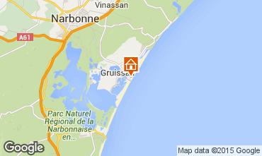 Map Gruissan-Plage Chalet 40372