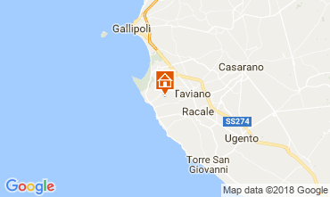 Map Marina di Mancaversa Vacation rental 114352