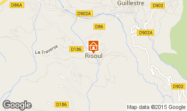 Map Risoul 1850 One-room apartment 80412