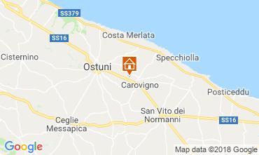 Map Carovigno Villa 116335