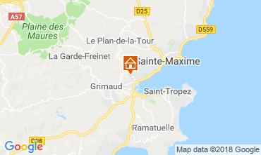 Map Saint Tropez House 117626