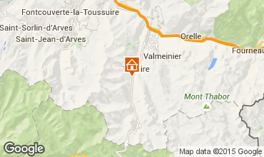 Map Valloire Chalet 3373