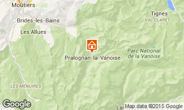 Map Pralognan la Vanoise Apartment 18251