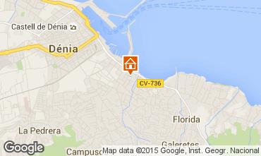 Map Denia Apartment 71551