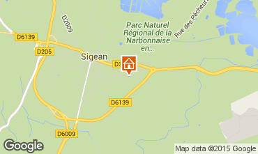 Map Sigean Villa 10522