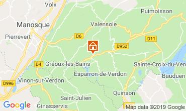 Map Gréoux Les Bains Vacation rental 111014