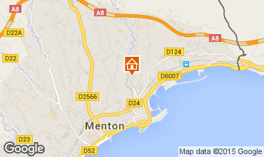 Map Menton Apartment 86464