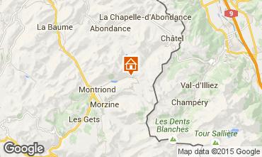 Map Morzine Apartment 77690