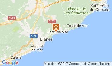 Map Lloret de Mar Apartment 82806