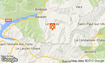 Map Les Orres Apartment 2113