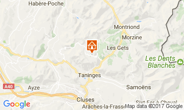 Map Praz de Lys Sommand Chalet 66858