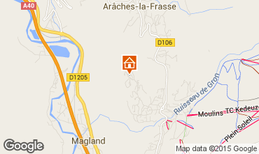Map Les Carroz d'Araches One-room apartment 73671