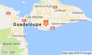 Map Gosier (Guadeloupe) Villa 77624