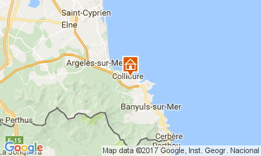 Map Collioure Apartment 98460