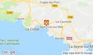 Map Saint Cyr sur Mer One-room apartment 116399