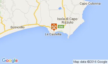 Map Le Castella Apartment 105561