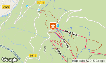 Map Les Arcs Apartment 245