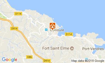 Map Collioure Apartment 113280