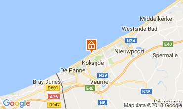 Map Koksijde Apartment 111601
