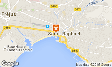 Map Saint Raphael One-room apartment 65303