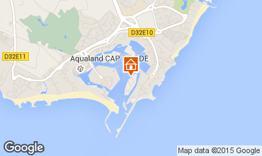 Map Cap d'Agde One-room apartment 50996