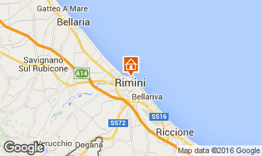 Map Rimini Apartment 103099