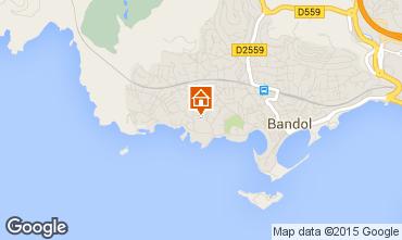 Map Bandol Apartment 71612