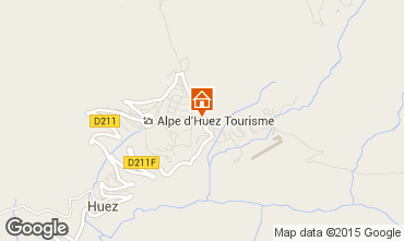 Map Alpe d'Huez One-room apartment 49666