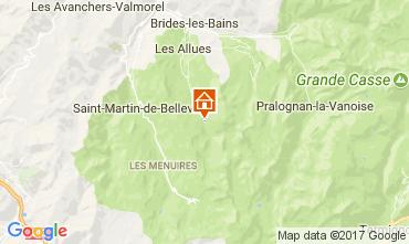 Map Méribel Apartment 111825