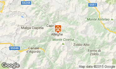 Map Alleghe Apartment 55732