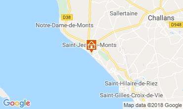 Map Saint Jean de Monts Apartment 81226