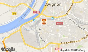 Map Avignon Apartment 83752