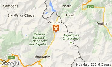 Map Chamonix Mont-Blanc Apartment 28400