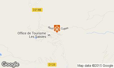 Map Les Saisies Apartment 2699