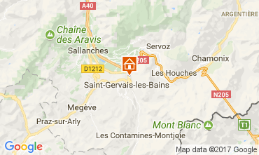 Map Saint-Gervais-les-Bains Apartment 112493