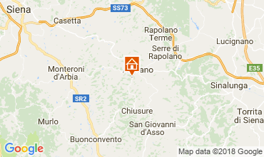 Map Siena Apartment 113564