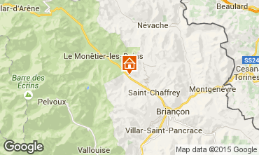 Map Serre Chevalier Chalet 57863