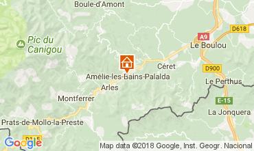 Map Amélie-Les-Bains Apartment 96364