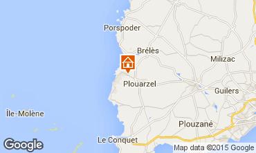 Map Le Conquet Vacation rental 11544
