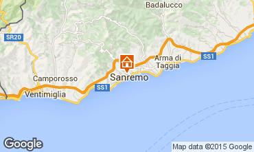 Map Sanremo Apartment 87358