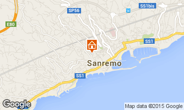 Map Sanremo Apartment 87358