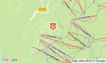 Map Les Arcs Apartment 106746