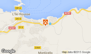 Map Location Ile Rousse Apartment 61232