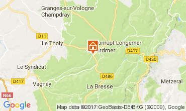 Map Gérardmer Chalet 112489