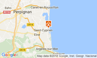 Map Saint Cyprien Plage One-room apartment 113321